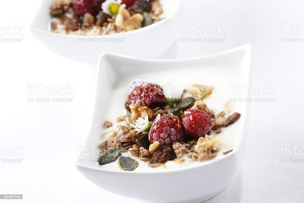 Fruity muesli royalty-free stock photo