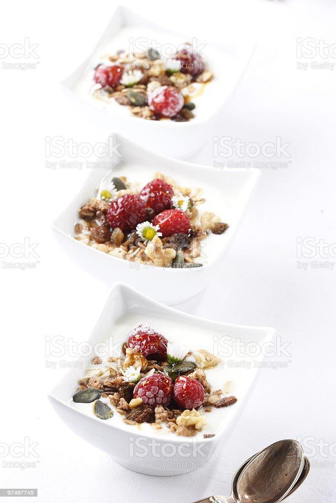 Fruity muesli royalty-free stock photo