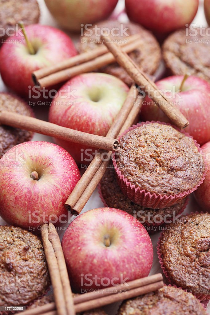 fruity muffins stock photo
