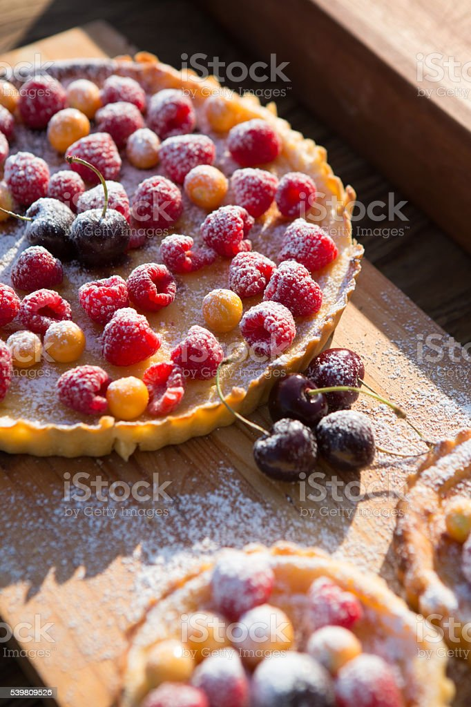 Fruity Tarts stock photo