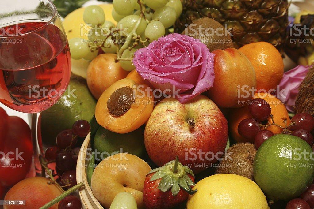 fruity wine royalty-free stock photo