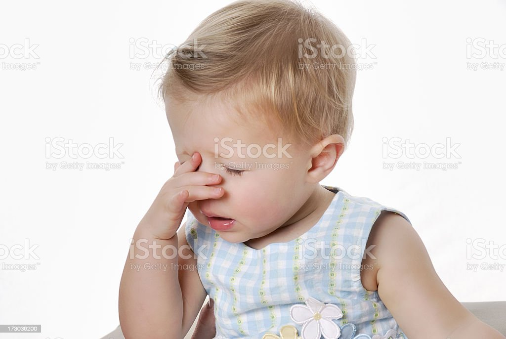 Frustrated Baby stock photo