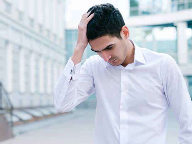 frustriert Geschäftsmann Verzweiflung Scheitern Lebensstil – Foto