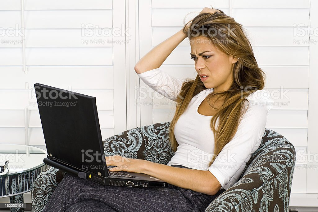 Frustrated Business Woman royalty-free stock photo