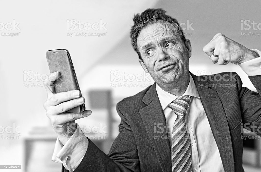 frustrated businessman. stock photo