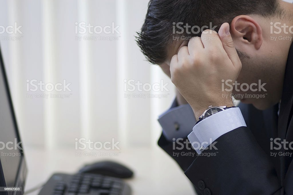 Frustrated Bussinessman  upclose royalty-free stock photo