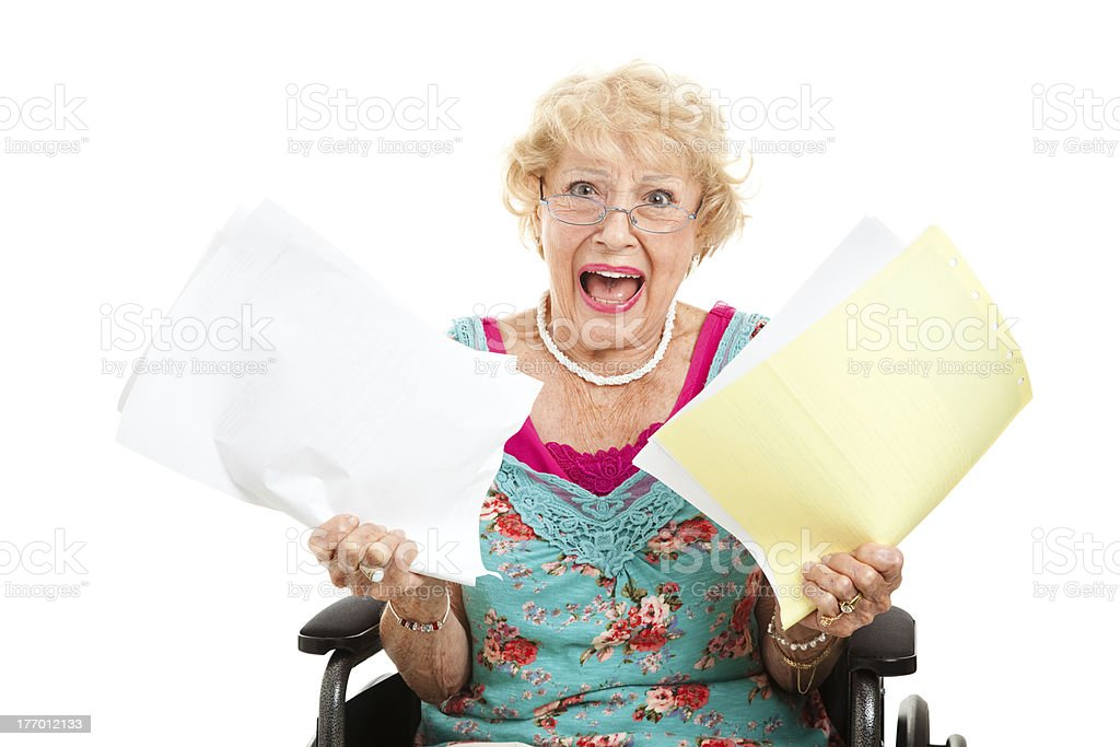 Frustrated by Medical Bills royalty-free stock photo