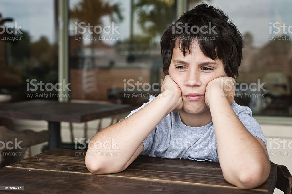 Frustrated Child stock photo