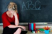 Frustrated elementary teacher