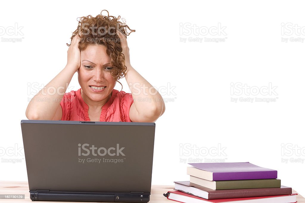 Frustrated ethnic businesswoman royalty-free stock photo