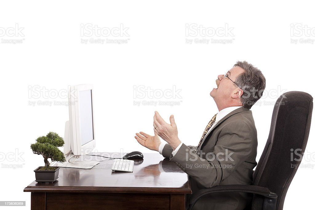 frustrated executive royalty-free stock photo