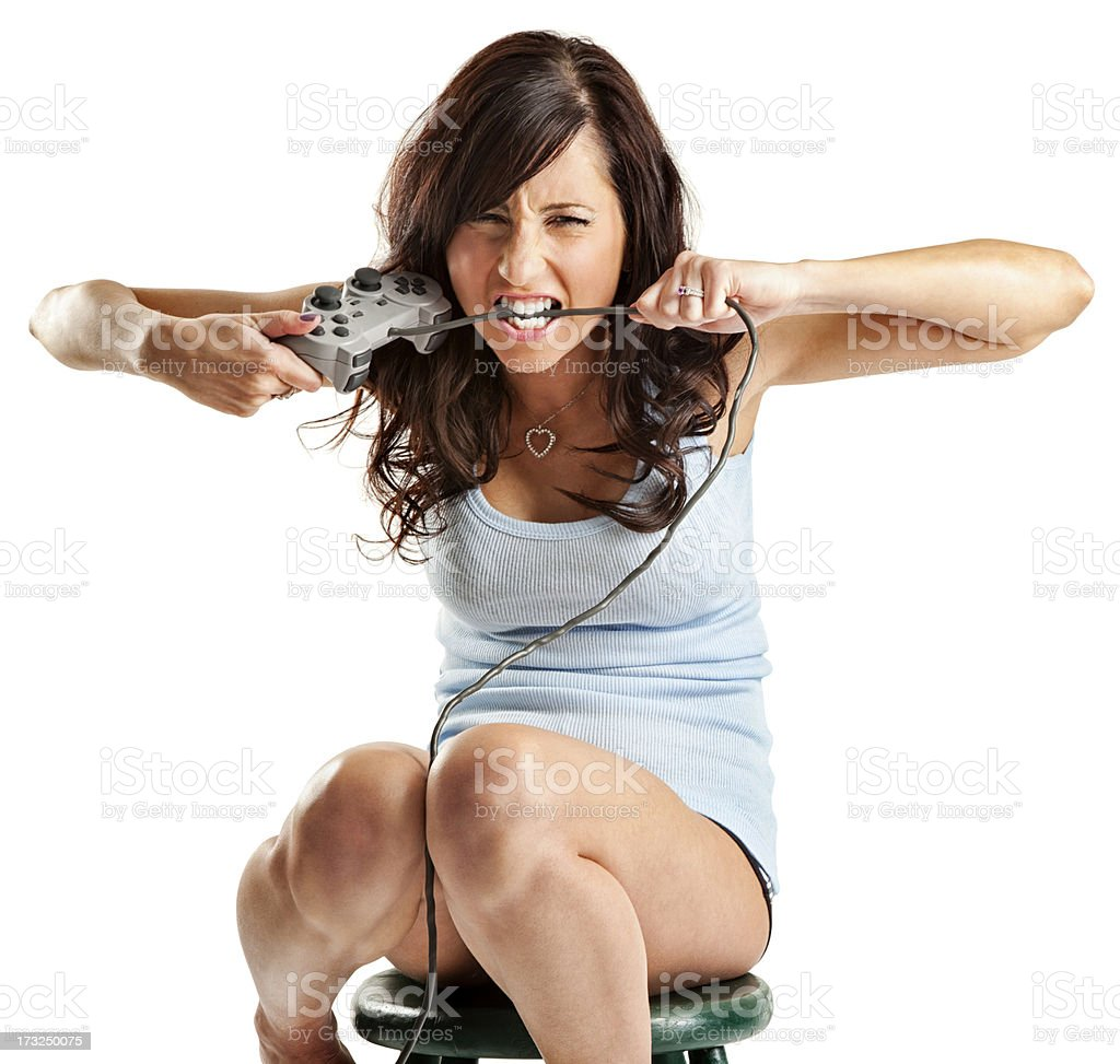 Frustrated Gamer royalty-free stock photo