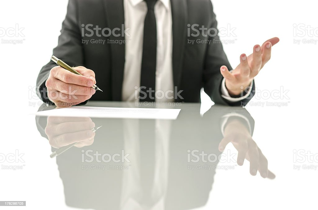 Frustrated gesture of a businessman royalty-free stock photo
