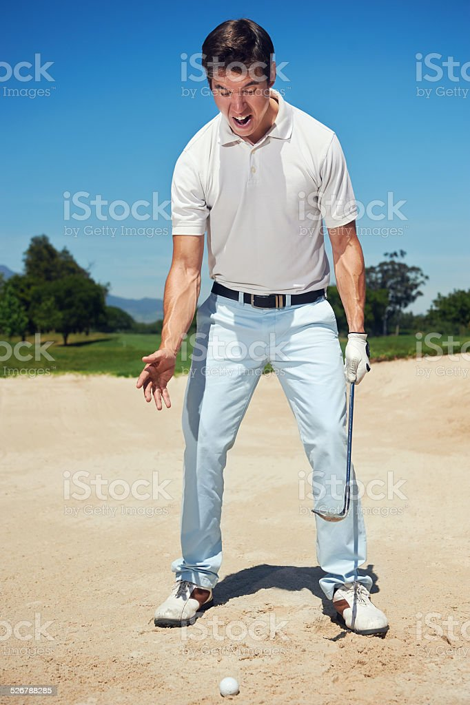 frustrated golfer stock photo