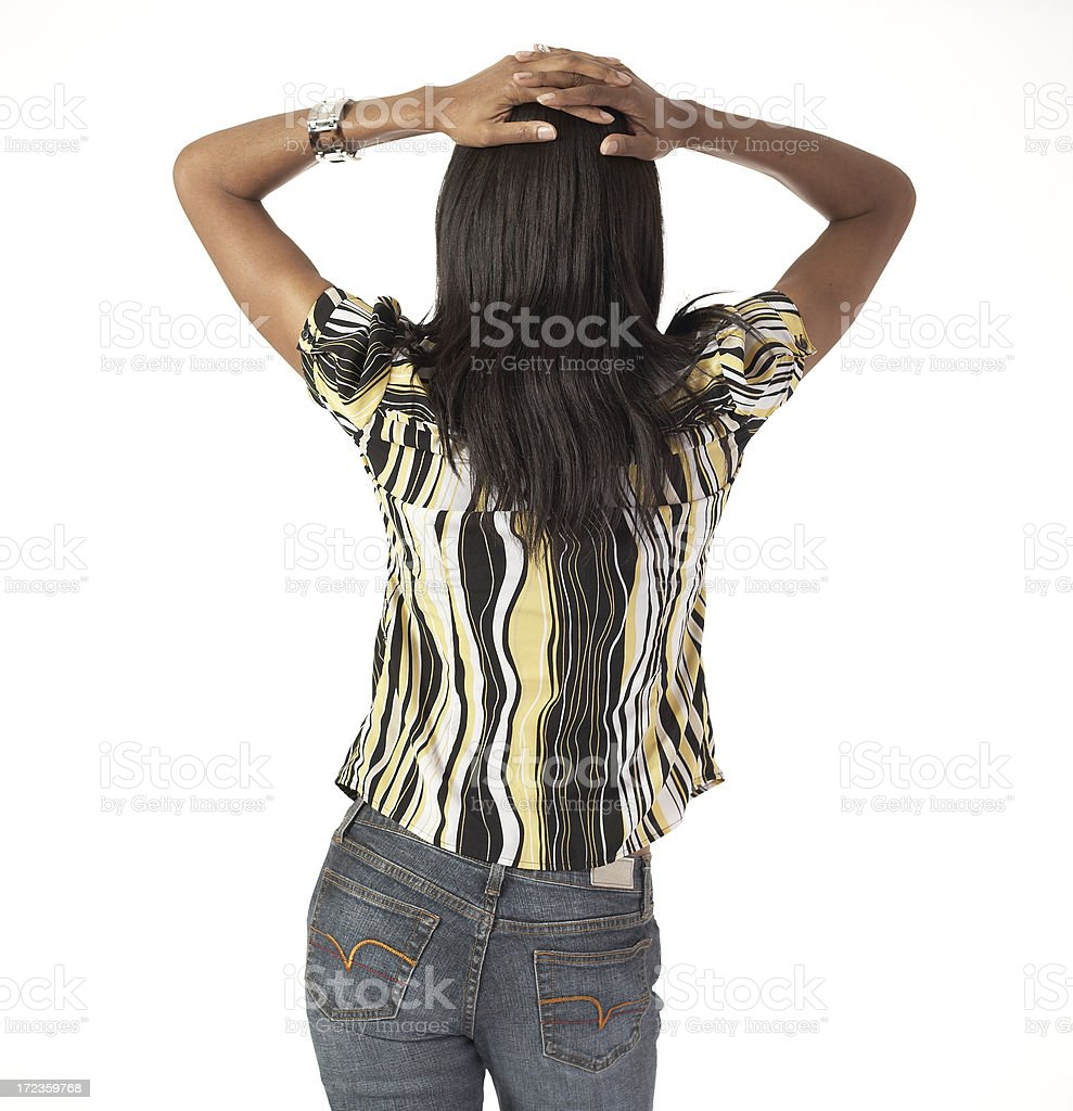 Frustrated - Hands on Head royalty-free stock photo