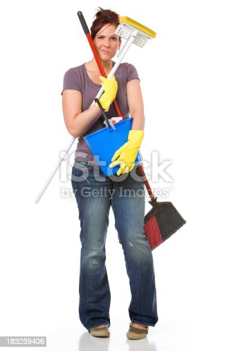 istock Frustrated House Cleaner 183259406