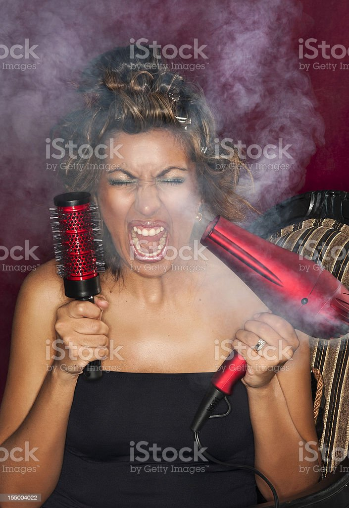 Frustrated housewife royalty-free stock photo