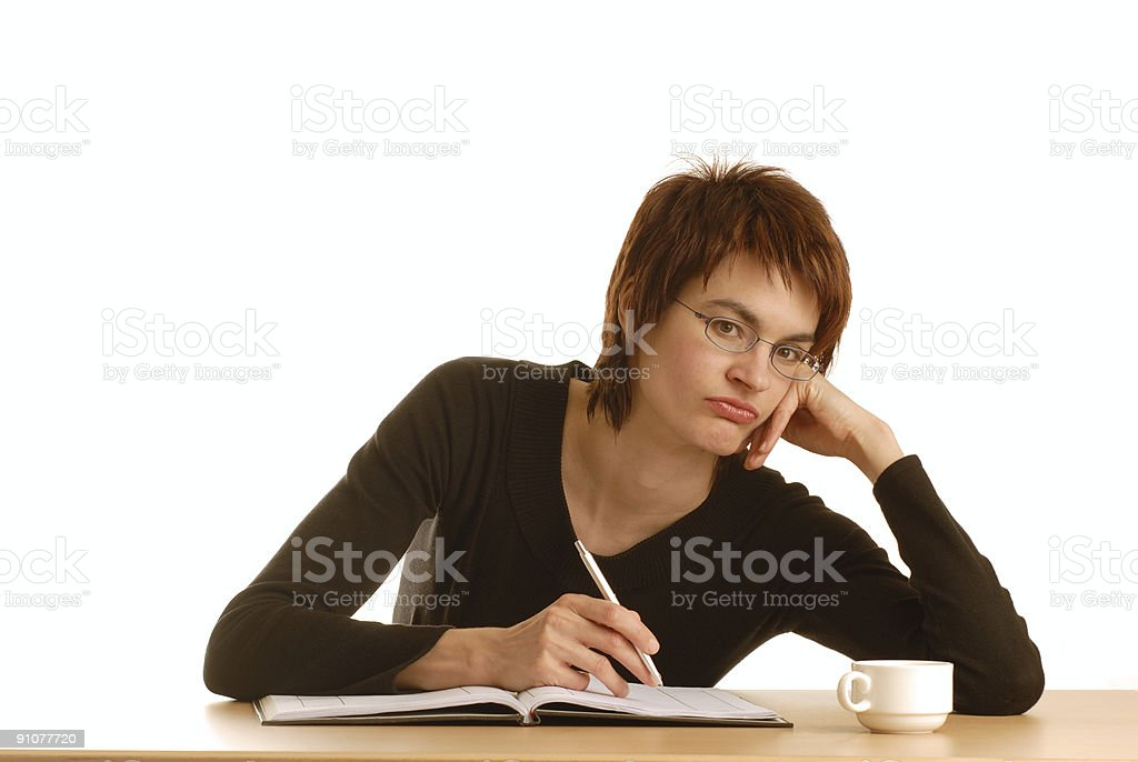 frustrated looking woman royalty-free stock photo
