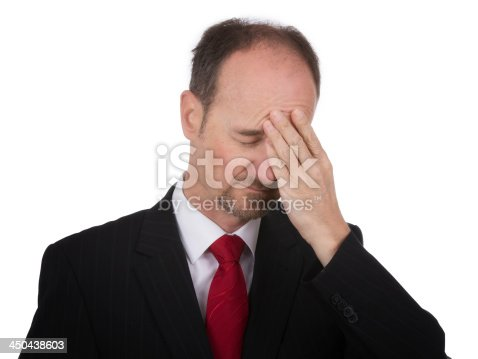 istock Frustrated office manager overloaded with work 450438603