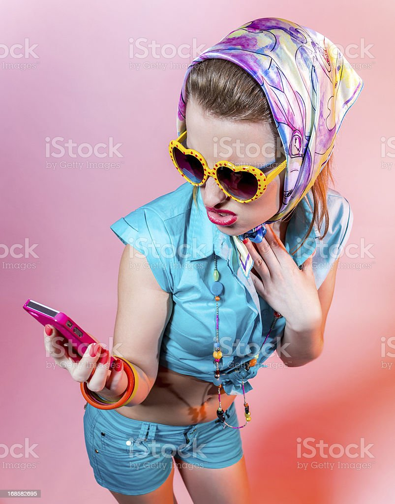 Frustrated phone woman royalty-free stock photo