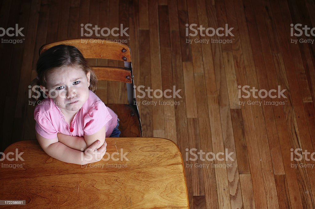 Frustrated School Background royalty-free stock photo