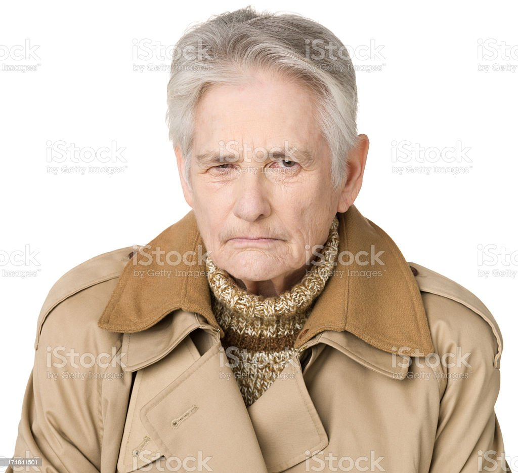 Frustrated Senior Woman Frowning royalty-free stock photo
