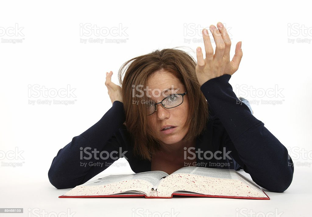Frustrated with school work royalty-free stock photo