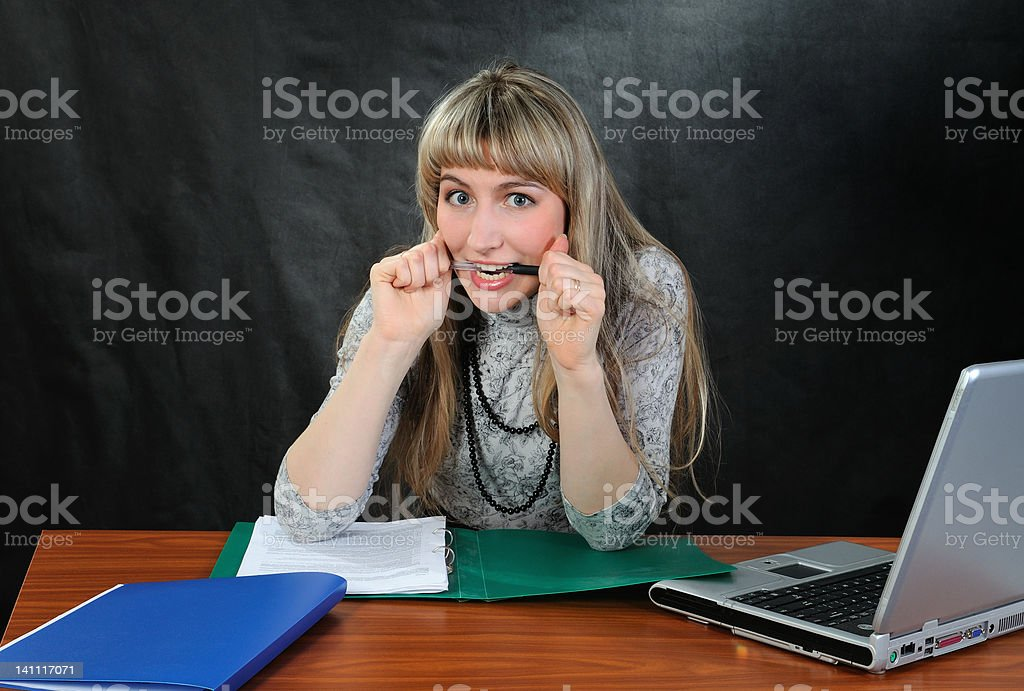 Frustrated woman. royalty-free stock photo