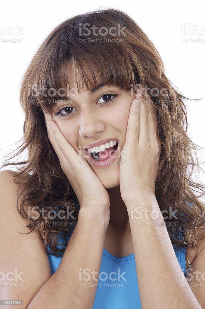 Zdenerwowany kobieta zbiór zdjęć royalty-free