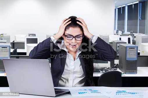 692461598 istock photo Frustrated worker in the office 535264949