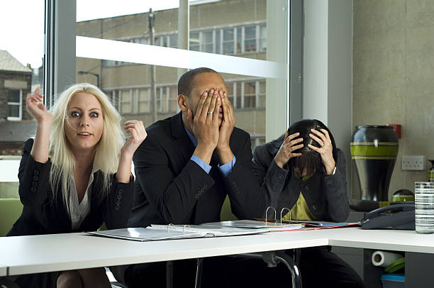 frustrating business meeting stock photo