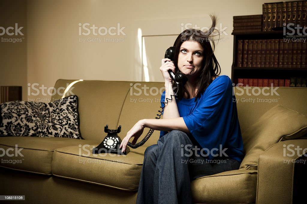 Frustrating Phone Call stock photo
