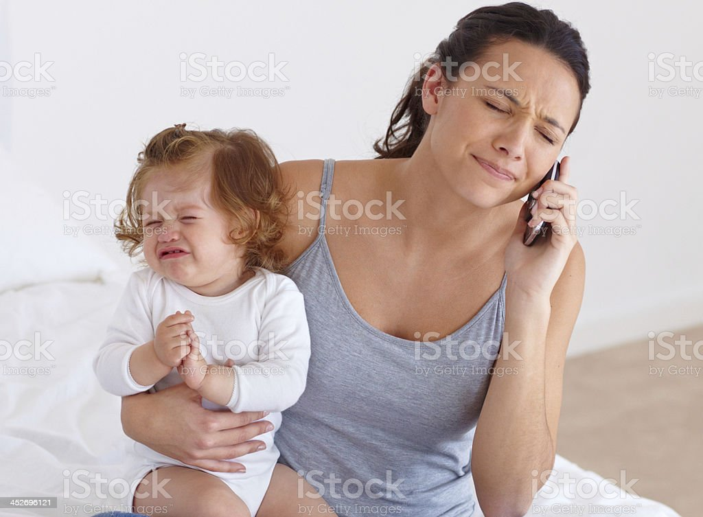 Frustrating times stock photo