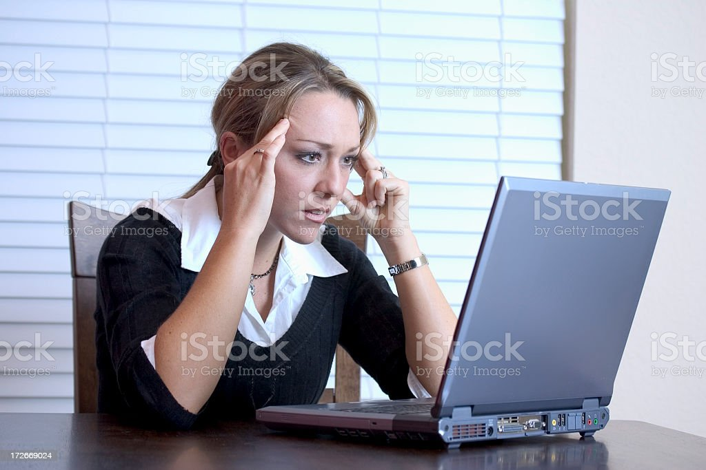 Frustrating Work royalty-free stock photo