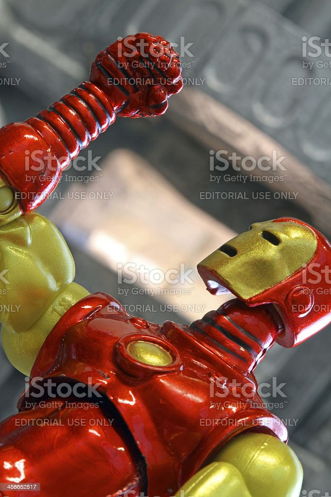 Frustration of Iron Man royalty-free stock photo