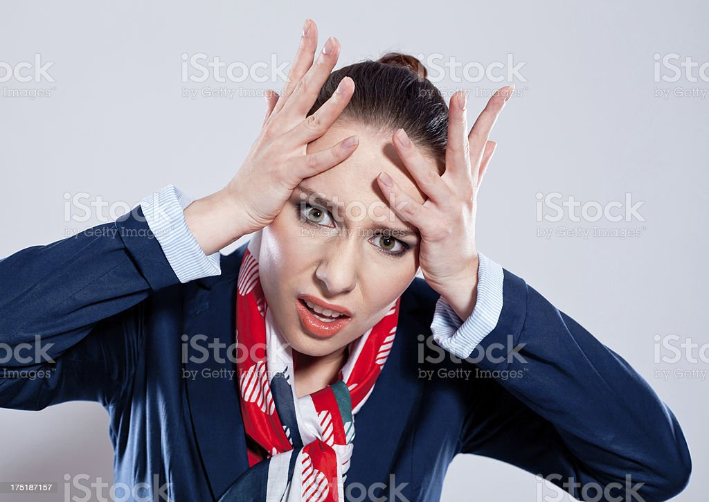 Frustration stock photo