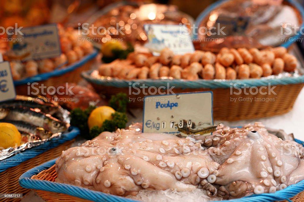 Frutti di mare. Street fish market. royalty-free stock photo