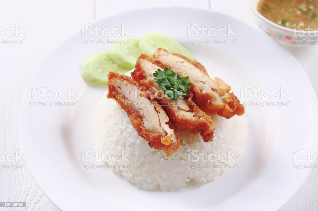 fry chicken rice royalty-free stock photo