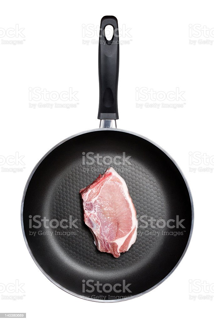 Fry pan isolated on a white background royalty-free stock photo