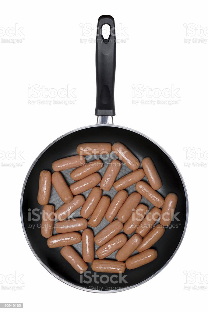 Fry pan isolated on a white background stock photo