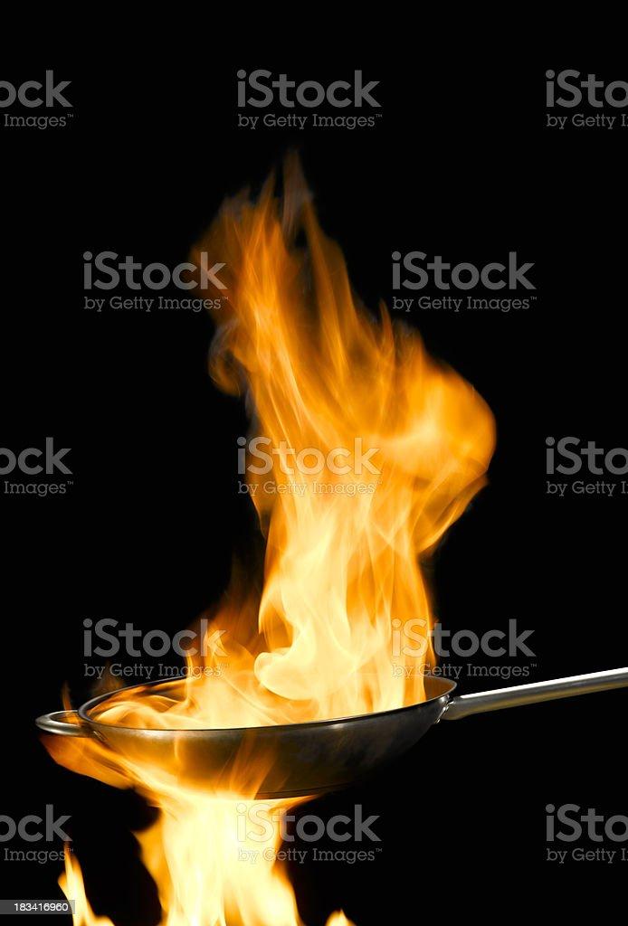 SAUTE fry pan stock photo