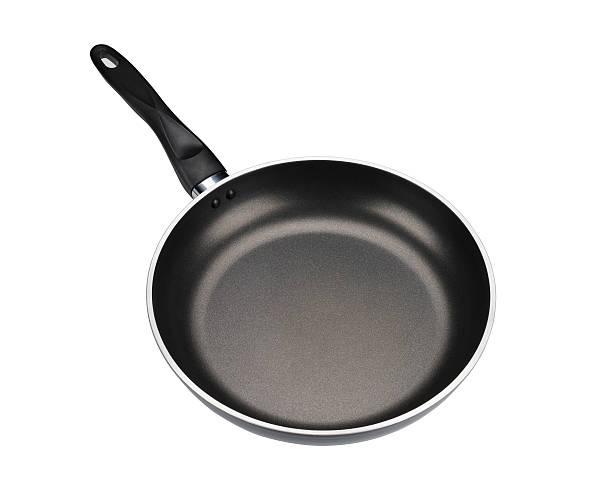 frying pan isolated on white background - frying pan bildbanksfoton och bilder