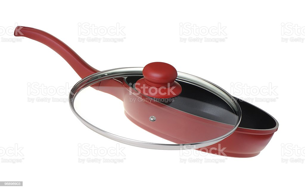 Frying pan - kitchen utensils royalty-free stock photo
