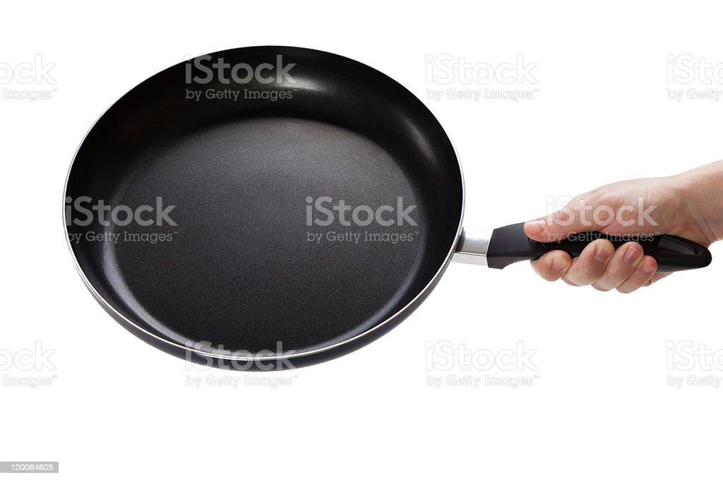 Frying pan or griddle stock photo