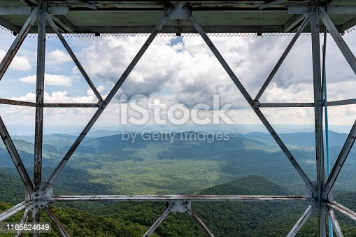 Fryingpan Mountain Lookout Tower in the Pisgah National Forest near the Blue Ridge Parkway.