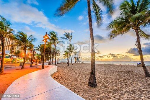 Ft. Lauderdale Beach, Florida, USA at Las Olas Blvd.