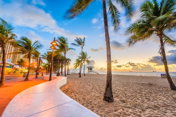 ft. lauderdale beach, florida, usa - miami stock photos and pictures