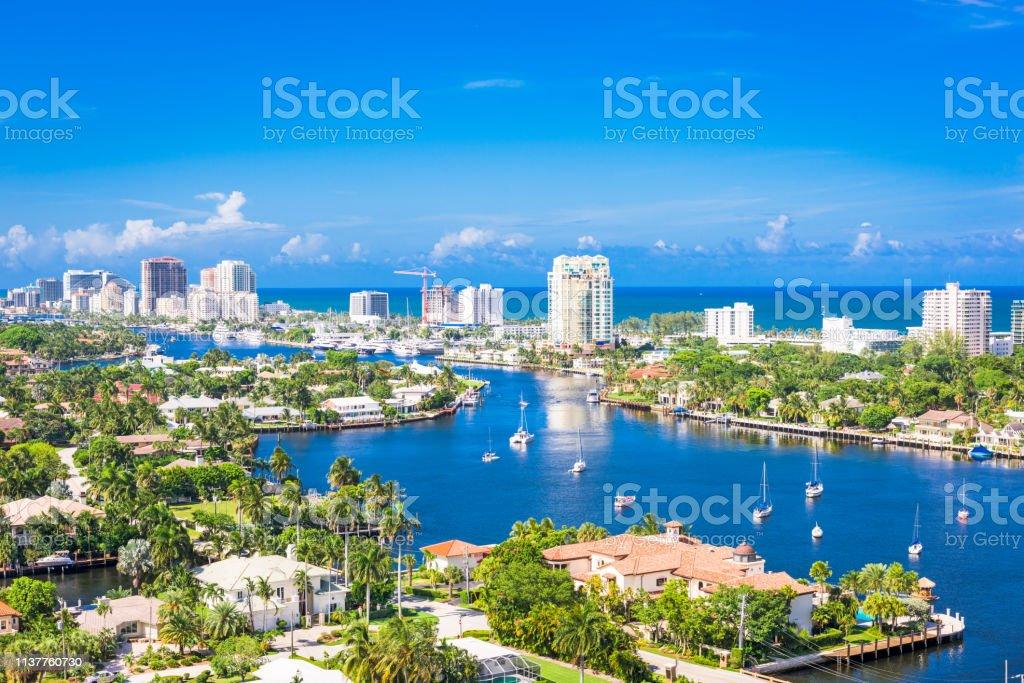勞德代爾堡, 佛羅里達州, 美國 - 免版稅佛羅里達州 - 美國圖庫照片