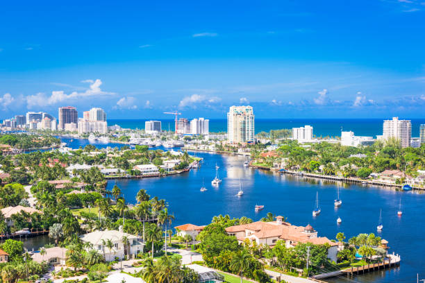 ft. lauderdale, florida, usa - south stock pictures, royalty-free photos & images