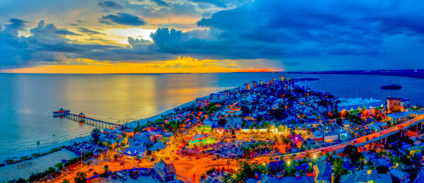 Ft Myers Beach, FL Twilight stock photo